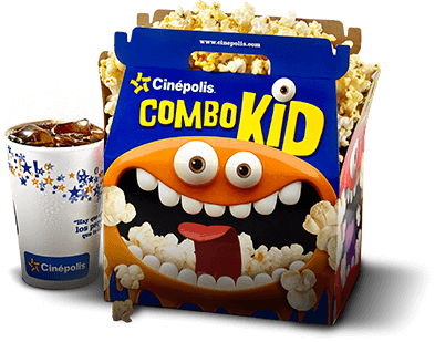 Combo kid palomitas y refresco