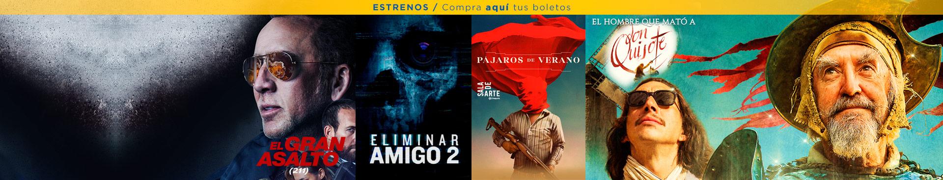 Estrenos (El Gran Salto / Eliminar Amigo 2 / Pájaros de Verano / El Hombre que mató a Don Quijote)