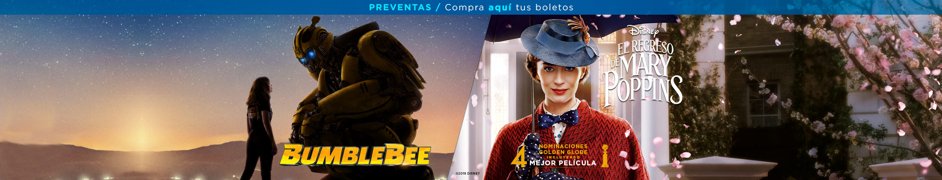 Preventas (Aquaman/ Mary Poppins)