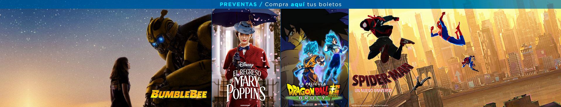 Preventas (Aquaman/ Mary Poppins / Spider-Man)