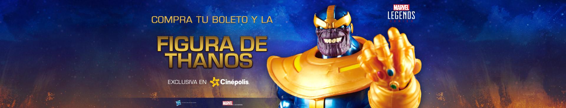 Compra tu boleto y la figura de Thanos