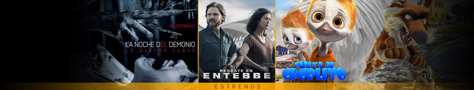 Estrenos (La noche del demonio (Re-estreno) / Cabeza de Chorlito / Rescate de Entebbe)