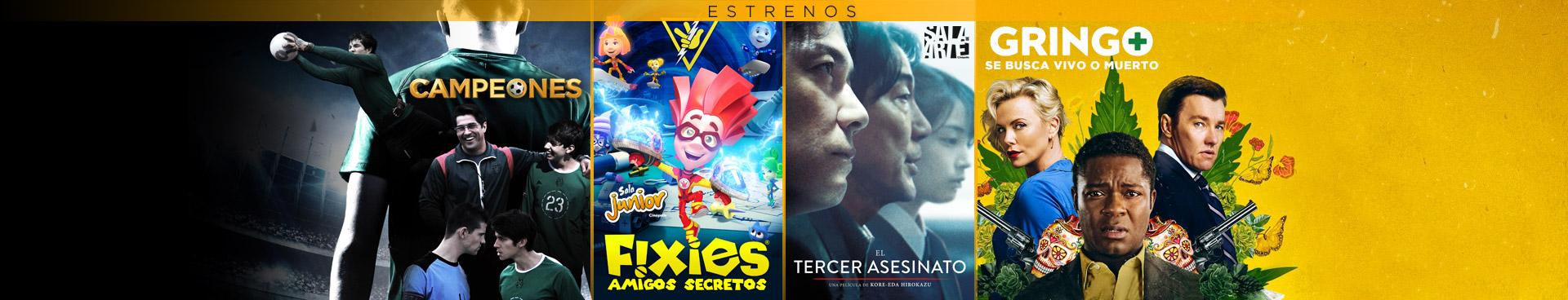 Estrenos: (Campeones / Gringo / Fixies / El Tercer Asesinato)