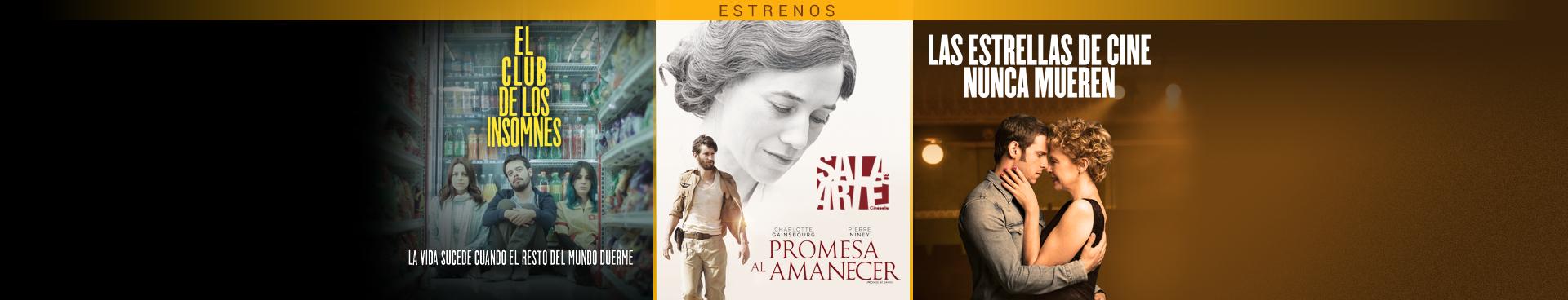 Estrenos (El club de los insomnes / Promesa al amanecer / Las estrellas de cine nunca mueren)