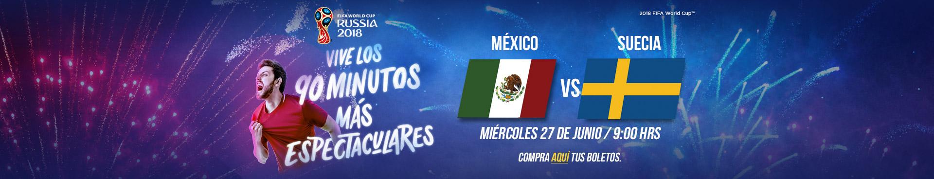 Mundial: México vs Suecia