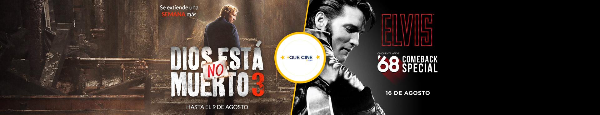 +Que Cine: Dios no está muerto 3 / Elvis