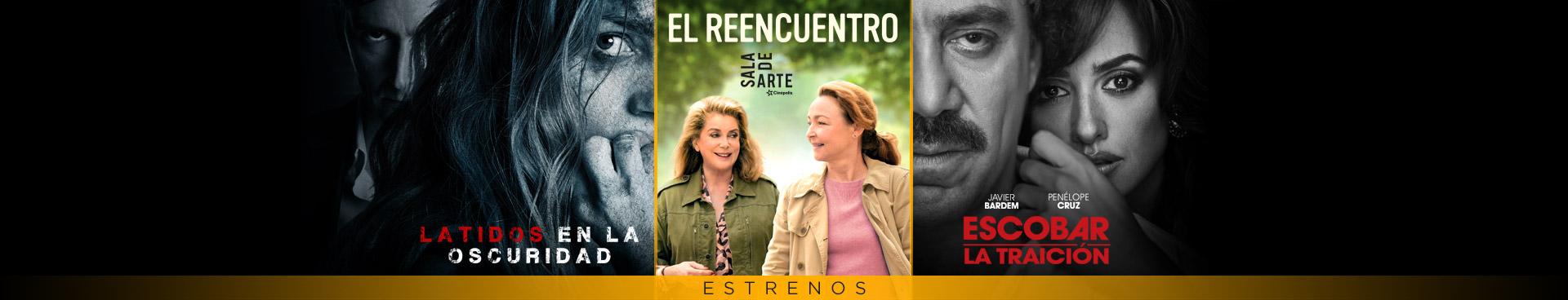 Estrenos (Escobar / Latidos en la oscuridad / El Reencuentro)