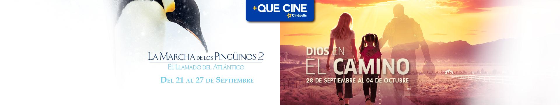+Que Cine (La marcha de los pingüinos / Dios en el camino)