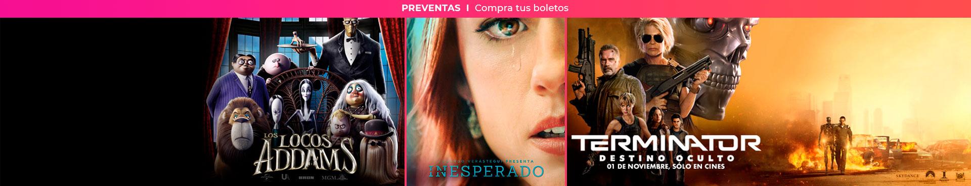 Preventas: Los locos Addams / Terminator / Inesperado