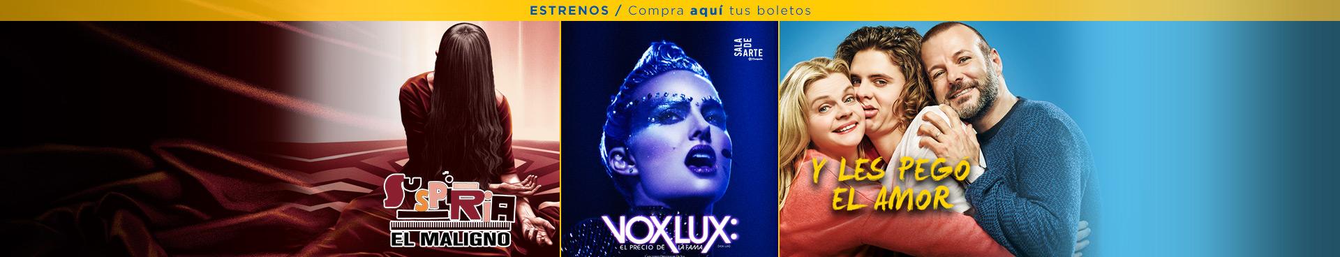 Estrenos: Suspiria / Vox lux / Y les pegó el amor