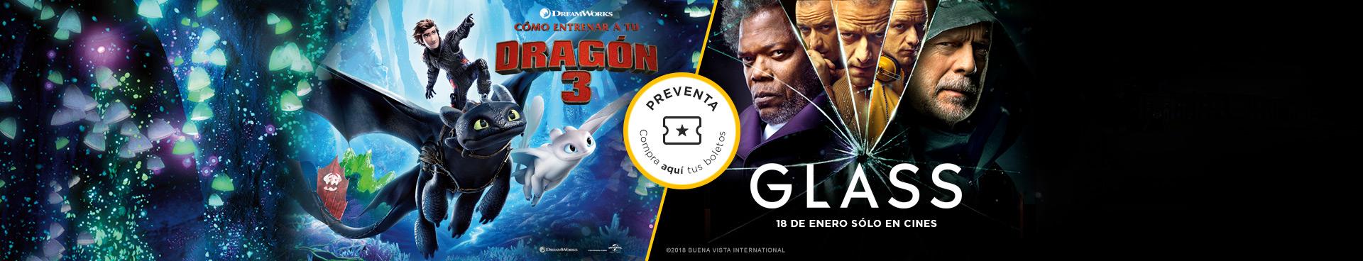 Preventas: Cómo entrenar a tu dragón 3 / Glass