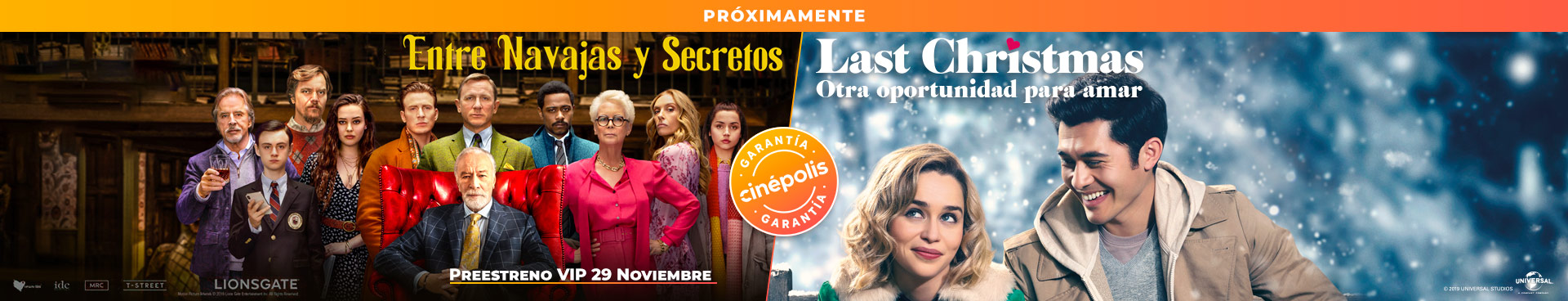 Próximamente: Entre Navajas y Secretos / Last Christmas