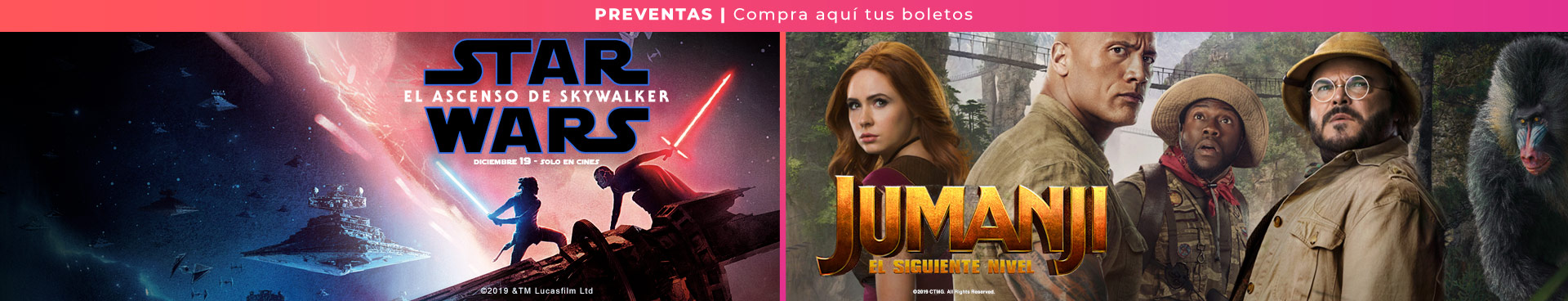 Preventas:  Star Wars El Ascenso de Skywalker / Jumanji 2