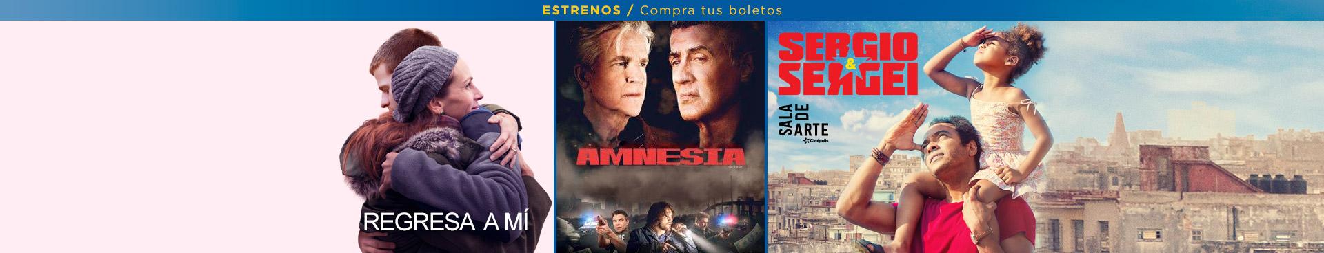 Estrenos: Amnesia / Regresa a mi / Sergio y Sergei