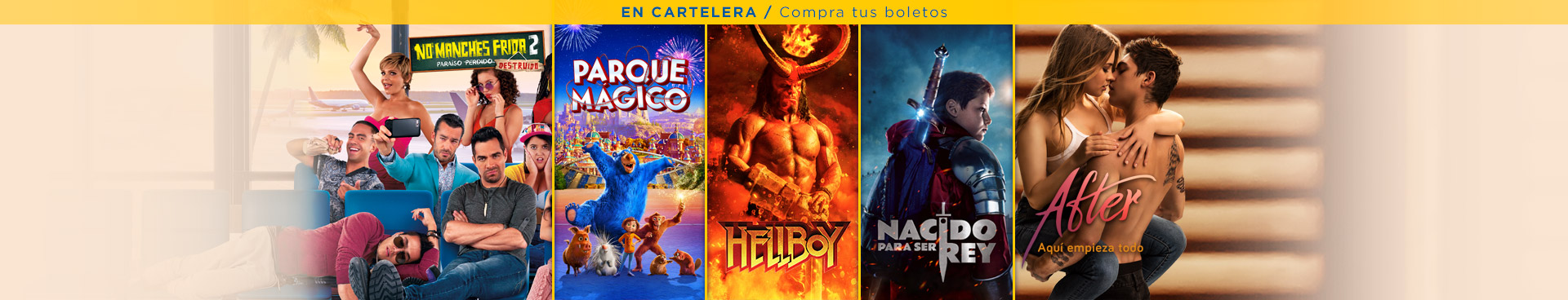 En cartelera: No Manches Frida 2 / Parque Mágico / Hellboy / Nacido para ser Rey / After