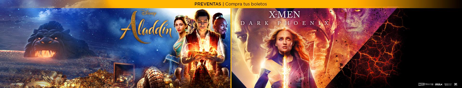 Preventas: Aladdín / X-Men Dark Phoenix