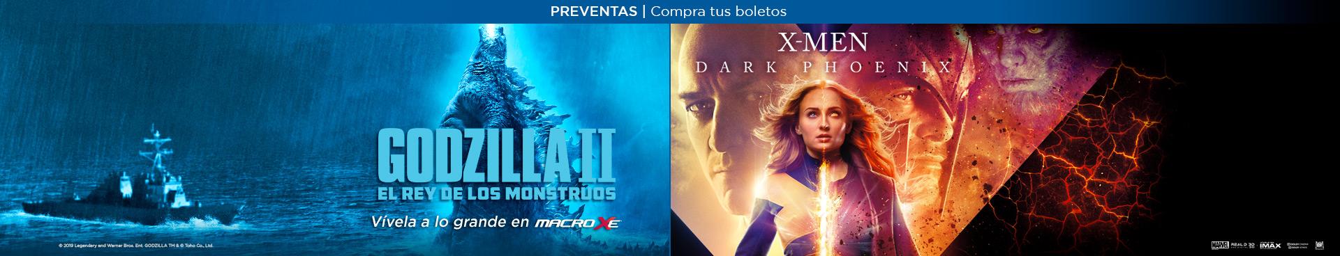 Preventas: Godzilla / X-Men Dark Phoenix