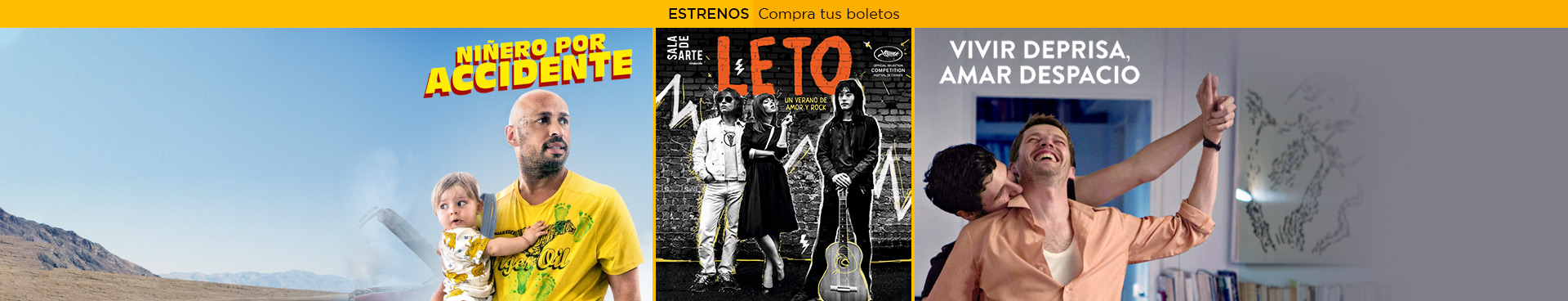 Estrenos: Niñero por accidente / Leto  / Vivir deprisa, amar despacio