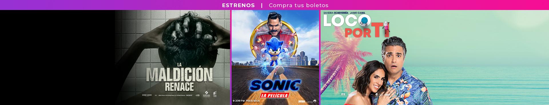 Estrenos La maldicion / Sonic la película / Loco por ti