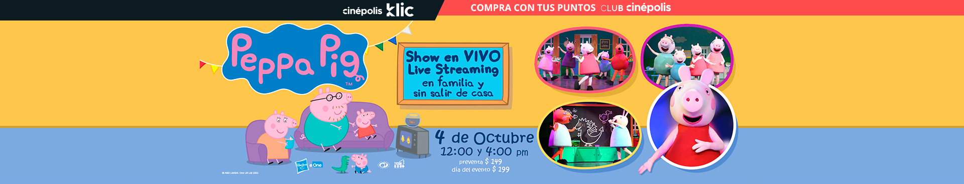 Cinépolis Klic: Peppa Pig Live Streaming
