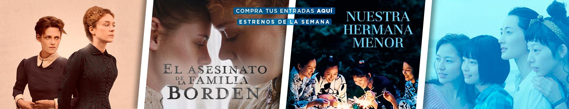 ESTRENO: EL ASESINATO DE LA FAMILIA BORDEN + NUESTRA HERMANA MENOR,  COMPRA TUS ENTRADAS AQUÍ