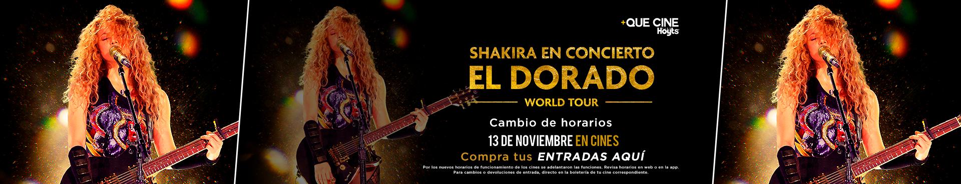 PREVENTAS +QUE CINE NOVIEMBRE:  SHAKIRA EN CONCIERTO: EL DORADO WORLD TOUR, 13 DE NOVIEMBRE + DEPECHE MODE: SPIRITS IN THE FOREST, 21 DE NOVIEMBRE COMPRA AQUÍ TU ENTRADA