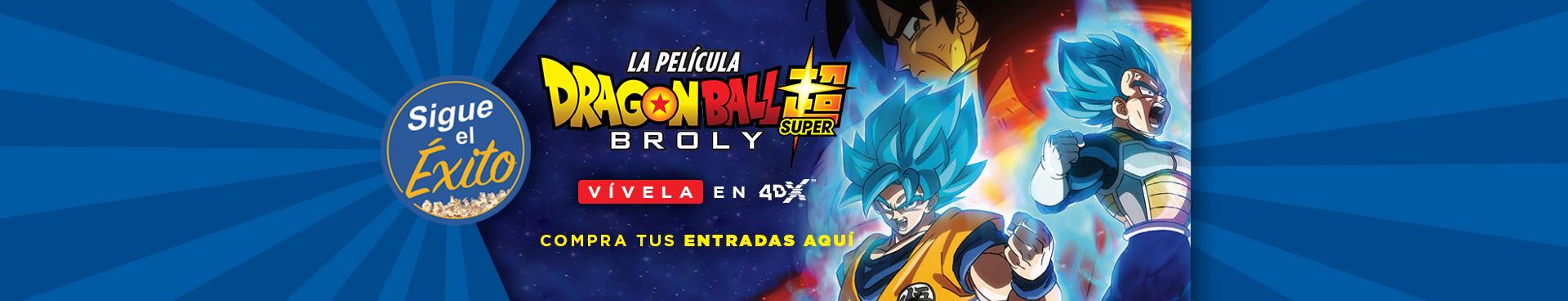SIGUE EL ÉXITO: DRAGON BALL SUPER: BROLY, VIVELA EN 4DX, COMPRA TUS ENTRADAS AQUÍ