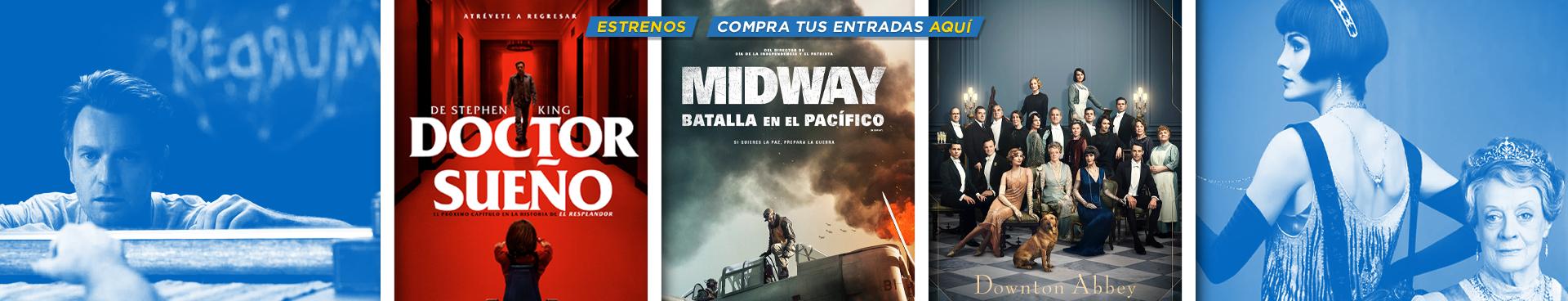ESTRENOS: DOCTOR SUEÑO + MIDWAY: BATALLA EN EL PACIFICO + DOWNTON ABBEY, COMPRA TUS ENTRADAS AQUÍ