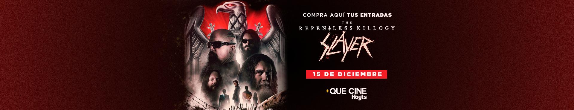 +QUE CINE: SLAYER: THE REPLENTLESS KILLOGY, 15 DE DICIEMBRE, COMPRA AQUÍ TUS ENTRADAS