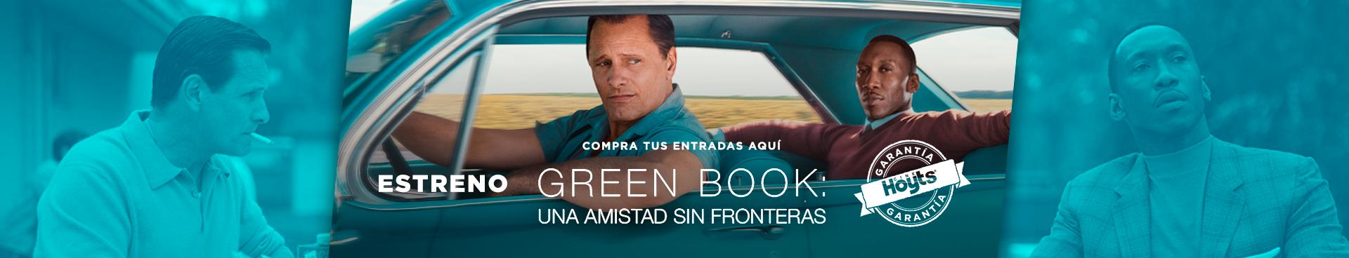 ESTRENO: GREEN BOOK - GARANTÍA CINEHOYTS, COMPRA TUS ENTRADAS AQUÍ