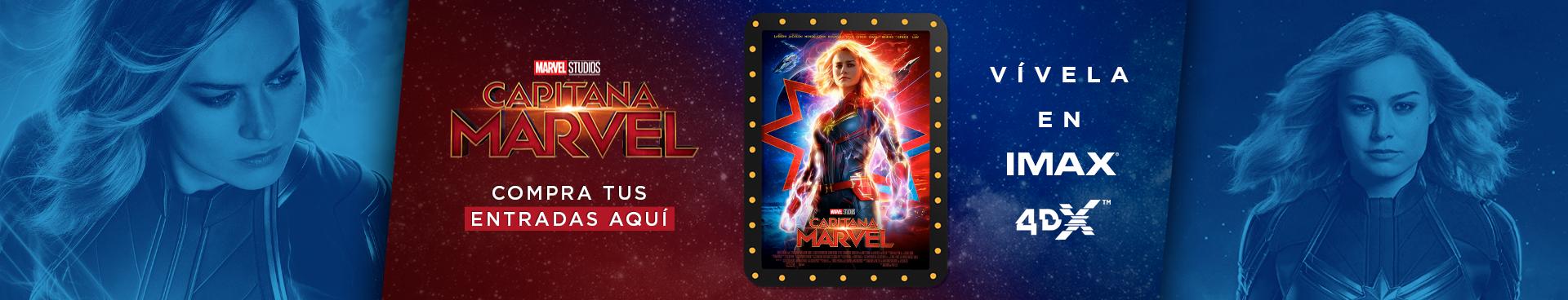 CAPITANA MARVEL, VIVELA EN IMAX Y 4DX, COMPRA AQUÍ TUS ENTRADAS