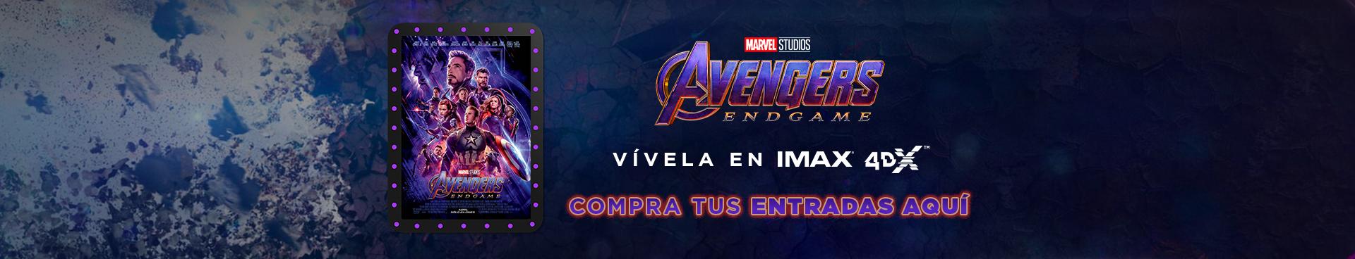 AVENGERS: ENDGAME, VIVELA EN IMAX Y 4DX, COMPRA TU ENTRADAS AQUÍ