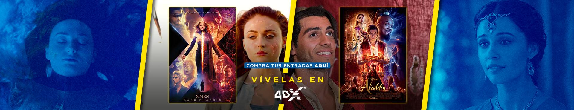 VIVELA EN 4DX: XMEN: DARK PHOENIX + ALADDIN, COMPRA AQUÍ TUS ENTRADAS