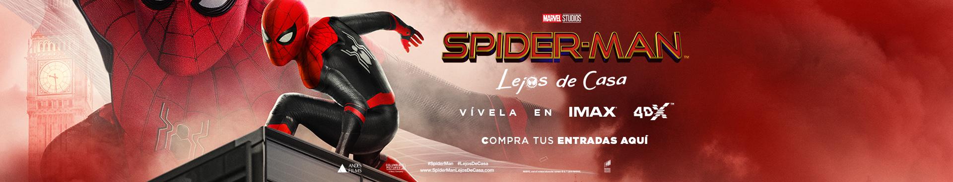 SPIDERMAN: LEJOS DE CASA, VIVELA EN IMAX Y 4DX, COMPRA AQUÍ TUS ENTRADAS