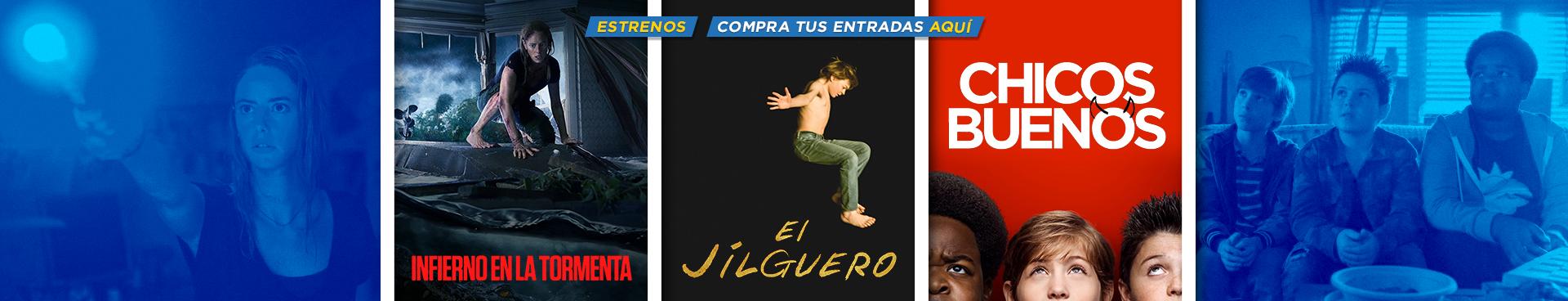ESTRENOS: INFIERNO EN LA TORMENTA + EL JILGUERO + CHICOS BUENOS, COMPRA AQUÍ TU ENTRADA