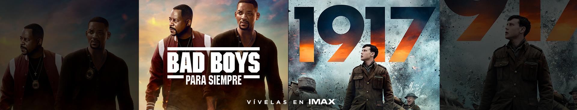 VIVELA EN IMAX: ESTRENO: BAD BOYS PARA SIEMPRE + EN CARTELERA: 1917