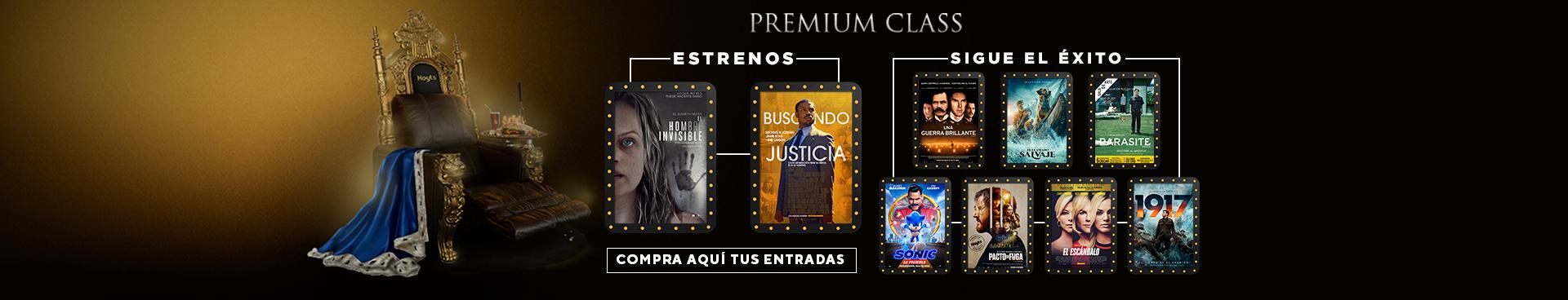 PREMIUM CLASS: EL HOMBRE INVISIBLE + BUSCANDO JUSTICIA // SIGUE EL ÉXITO: UNA GUERRA BRILLANTE + EL LLAMADO SALVAJE +  PARASITE + SONIC: LA PELÍCULA + PACTO DE FUGA + EL ESCANDALO  + 1917  , COMPRA AQUÍ TUS ENTRADAS