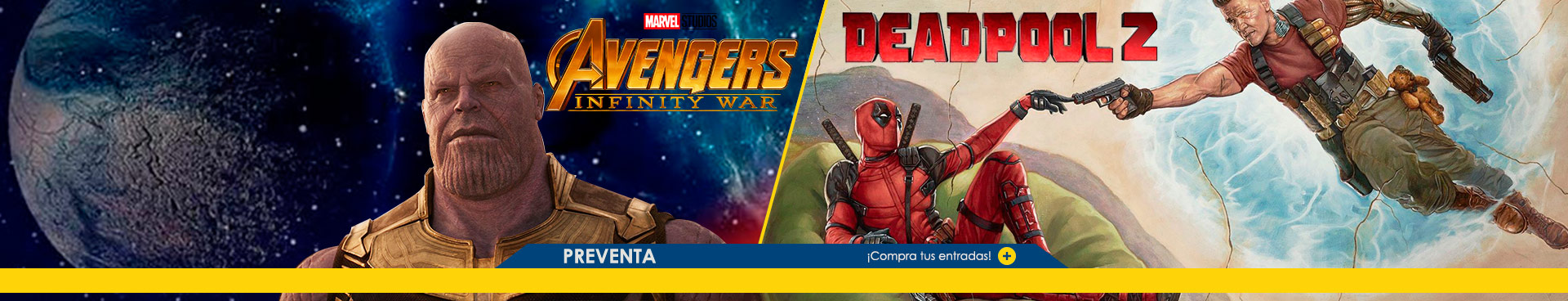 Preventa Avengers + Deadpool