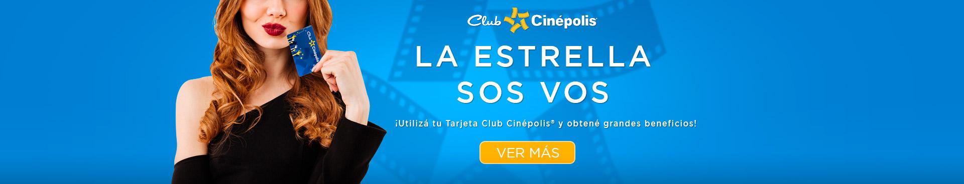 Precio especial en Tarjeta Club Cinépolis
