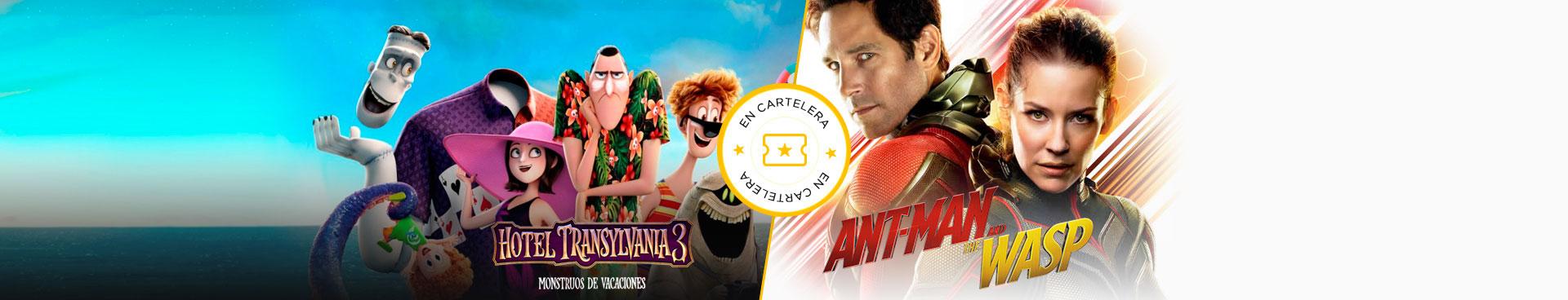 En cartelera Hotel Transilvania + Ant-man