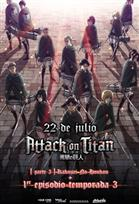 Poster de:2 Attack on Titan: Kakusei no Hoko & Ep. 3 Temp