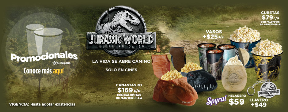 NUevos Promocionales Jurassic World