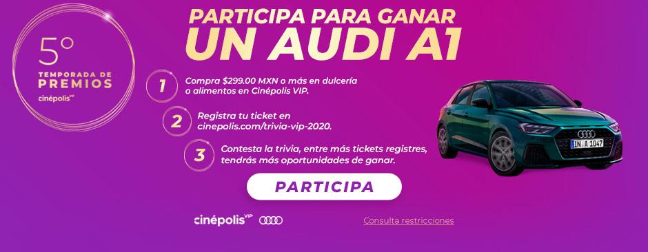 Promocion premios cinepolis VIP Audi