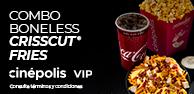 Combo Boneless Crisscut Fries VIP