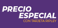 PRECIO ESPECIAL CON TARJETA RIPLEY