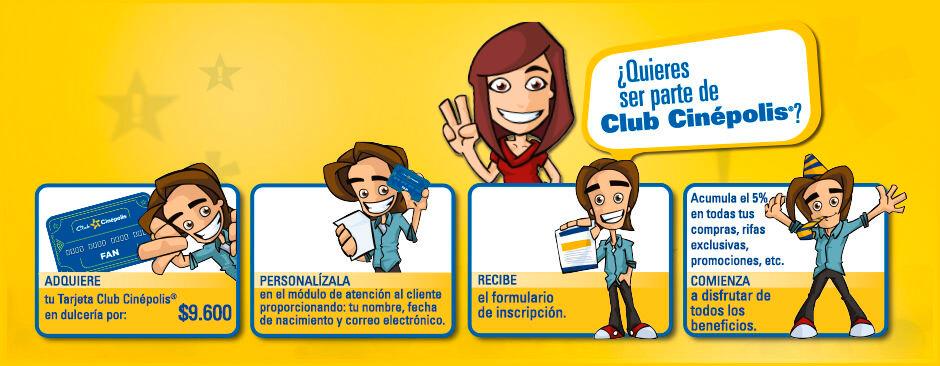 Compra la Tarjeta Club Cinépolis