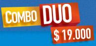 Combo duo Dulceria: $19.000