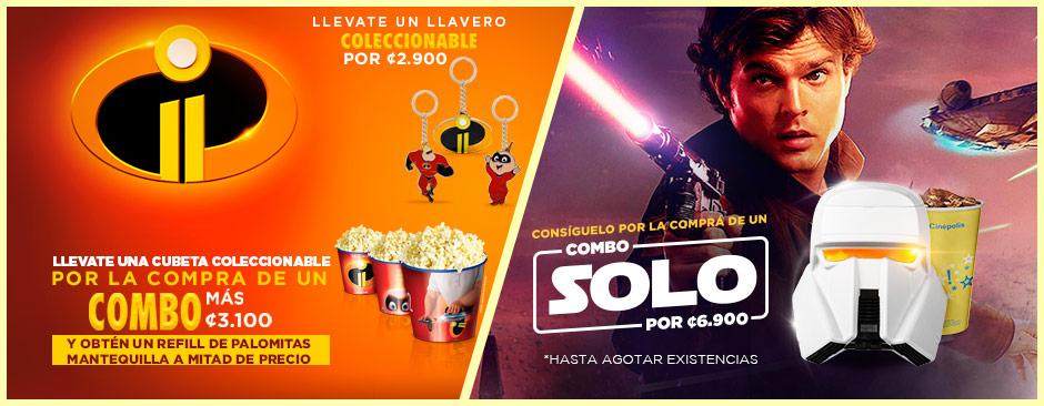 Promocionales Han Solo + Los increíbles