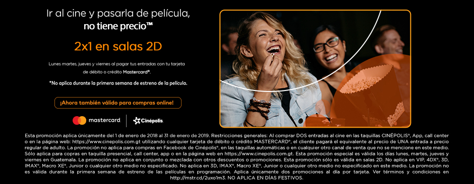 Mastercard 2x1 2D