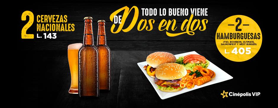 Hamburguesas y cerveza a precio especial